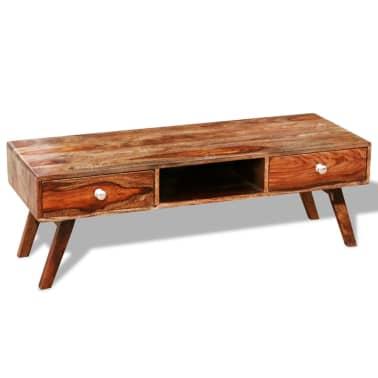 Bufet comodă TV cu 2 sertare, lemn masiv de sheesham, vintage, 40 cm[6/9]