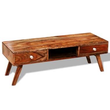 Bufet comodă TV cu 2 sertare, lemn masiv de sheesham, vintage, 40 cm[7/9]