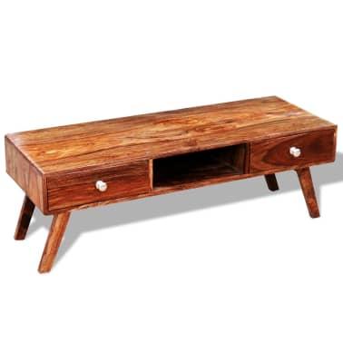 Bufet comodă TV cu 2 sertare, lemn masiv de sheesham, vintage, 40 cm[8/9]