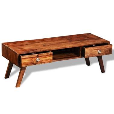 Bufet comodă TV cu 2 sertare, lemn masiv de sheesham, vintage, 40 cm[9/9]