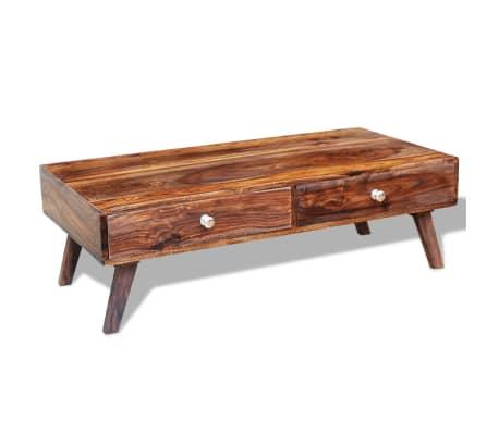 vidaXL Măsuță de cafea cu 4 sertare, 35 cm, lemn masiv de sheesham[9/11]
