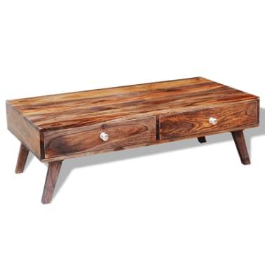 vidaXL Măsuță de cafea cu 4 sertare, 35 cm, lemn masiv de sheesham[10/11]