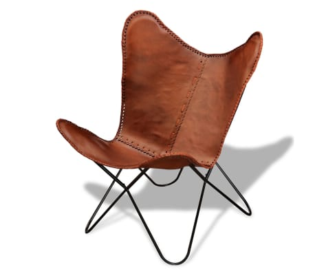 Real Leather Butterfly Chair Vintage Retro[1/5]
