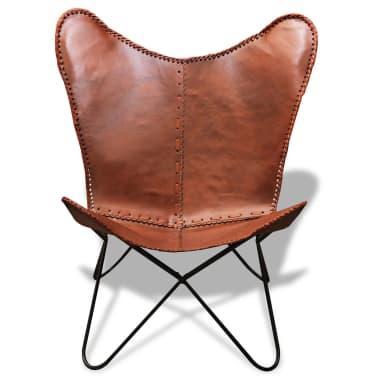 Fladdermusfåtölj av äkta läder Vintage Retro[2/5]