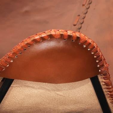 Fladdermusfåtölj av äkta läder Vintage Retro[4/5]