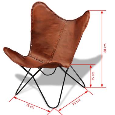 Acheter fauteuil papillon en cuir v ritable vintage r tro - Fauteuil papillon cuir ...