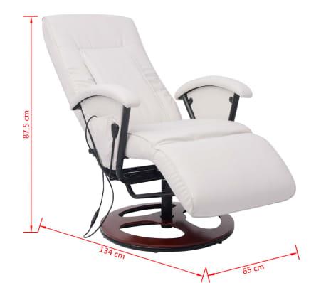 Vidaxl Shiatsu Massagesessel Halb Pu Weiß Günstig Kaufen Vidaxlde