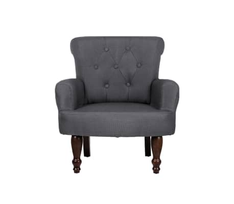 2 French Style Chairs With Armrest Gray[5/9]