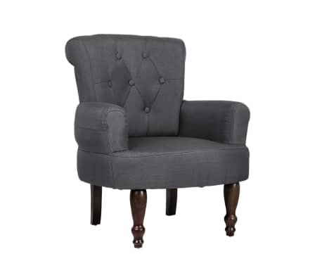 2 French Style Chairs With Armrest Gray[6/9]