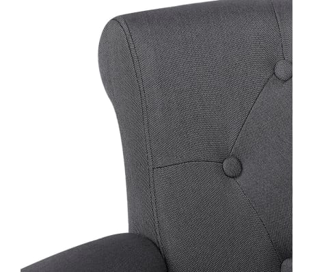 2 French Style Chairs With Armrest Gray[8/9]