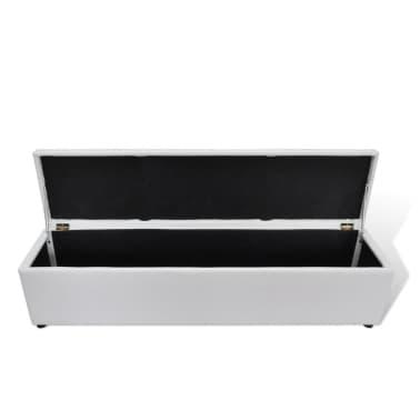 White Storage Bench Large Size[3/6]
