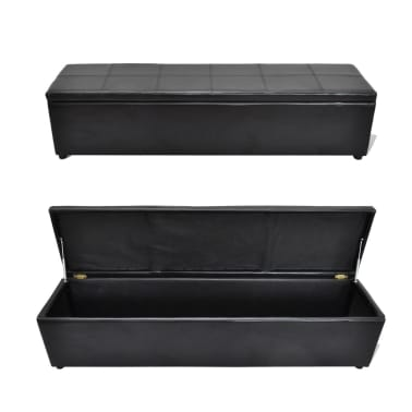 Black Storage Bench Large Size[6/6]