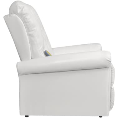 White Electric Artificial Leather Recliner Massage Chair[4/8]