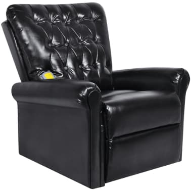 Black Electric Artificial Leather Recliner Massage Chair[1/8]