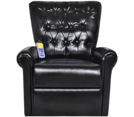 Black Electric Artificial Leather Recliner Massage Chair[2/8]