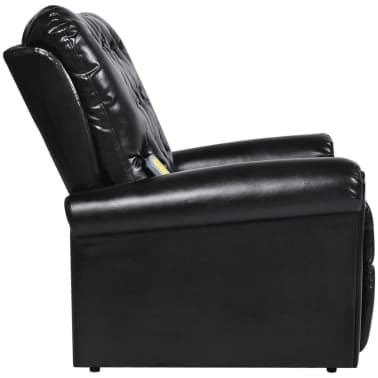 Black Electric Artificial Leather Recliner Massage Chair[4/8]