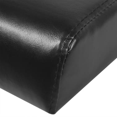 vidaXL Sofa Bed with Two Pillows Artificial Leather Adjustable Black[7/7]