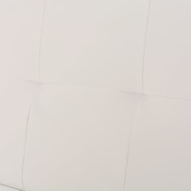 vidaXL Sofa Bed with Two Pillows Artificial Leather Adjustable Cream White[7/8]