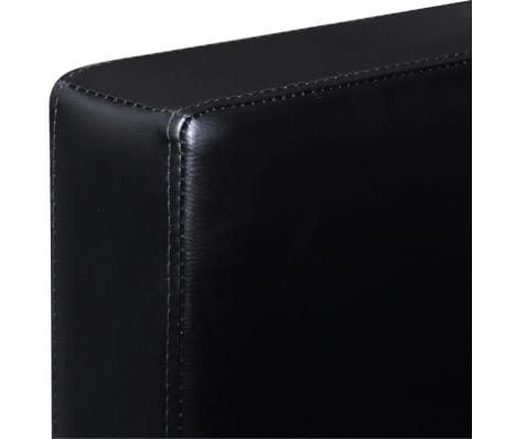 vidaXL Sectional Sofa 3-Seater Artificial Leather Black[6/9]