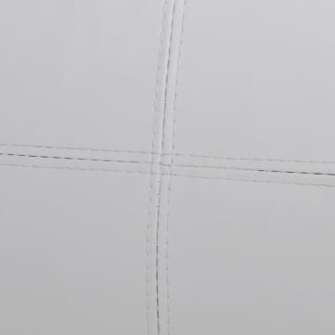vidaXL Sectional Sofa 3-Seater Artificial Leather White[6/9]
