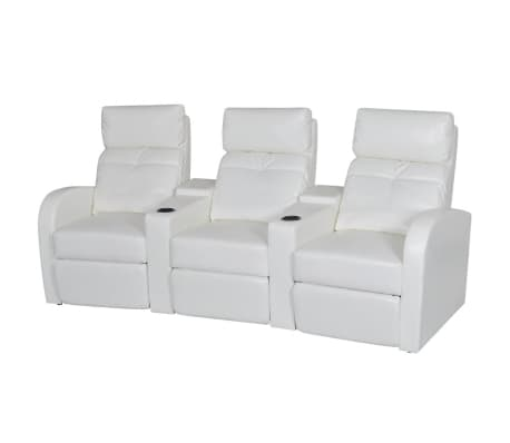 Vidaxl 3 Seater Home Theater Recliner