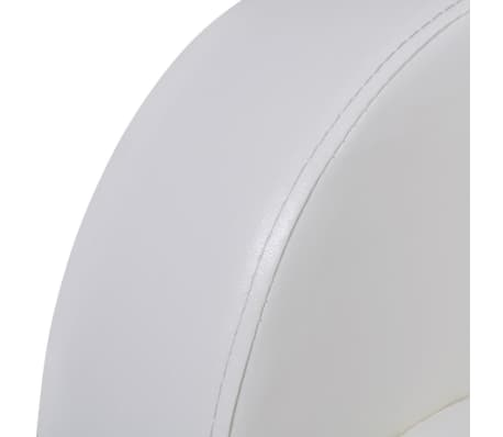 Artificial Leather Home Cinema Recliner Reclining Sofa 3-seat White[4/6]