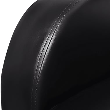 Artificial Leather Home Cinema Recliner Reclining Sofa 2-seat Black[4/6]