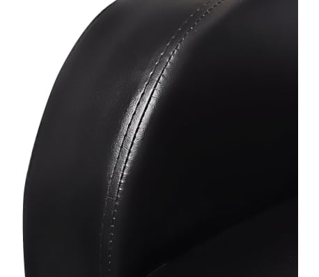 Artificial Leather Home Cinema Recliner Reclining Sofa 3-seat Black[4/6]