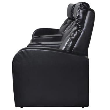 Tremendous Artificial Leather Home Cinema Recliner Reclining Sofa 3 Machost Co Dining Chair Design Ideas Machostcouk