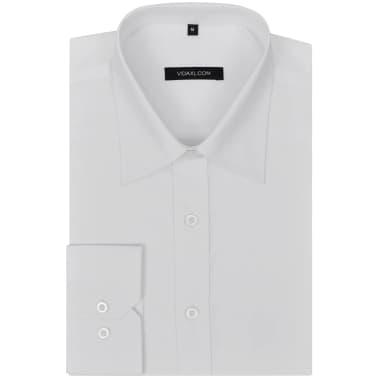 Cămăși business pentru bărbați, mărime S, alb, 3 buc.[5/7]