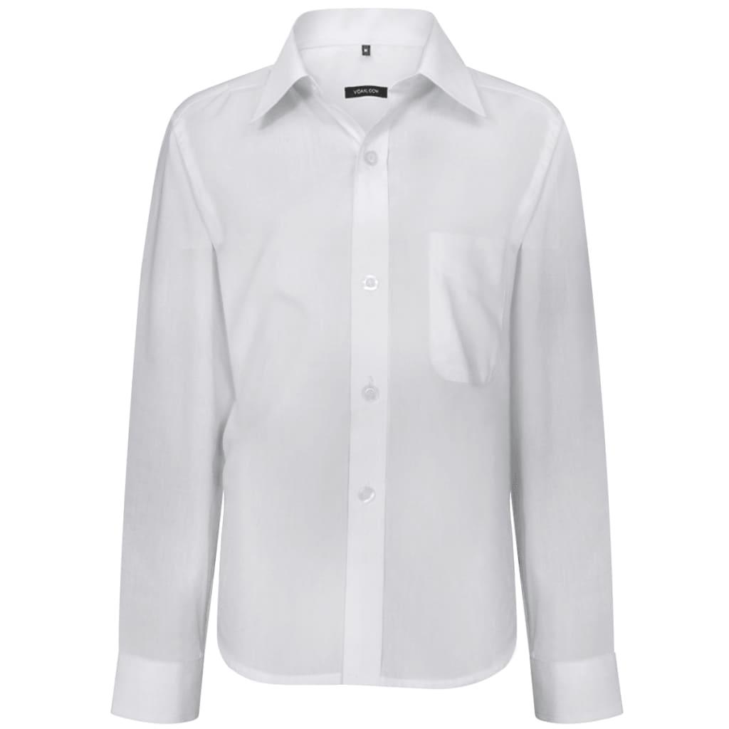 Chlapecká košile, dlouhý rukáv, bílá, velikost 128-134