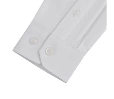 Gutt Langermet Ensfarget Skjorte Hvit Strl 128 134