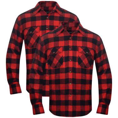 Zwart Overhemd Kopen.Overhemd Rood Zwart Geblokt Flanel Maat Xl 2 St Online Kopen Vidaxl Nl