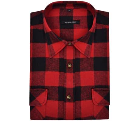 Rood Zwart Overhemd.Overhemd Rood Zwart Geblokt Flanel Maat Xl 2 St Online Kopen Vidaxl Nl