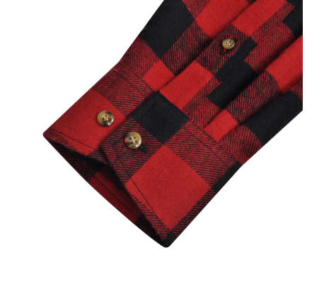 e194536efc Olcsó 2 db kockás férfi ing méret XL piros-fekete | vidaXL.hu
