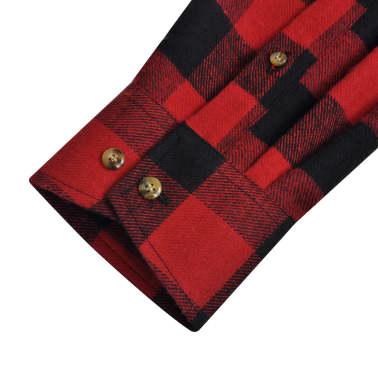 Camisa Xadrez Masculina Vermelho Preto Pequeno