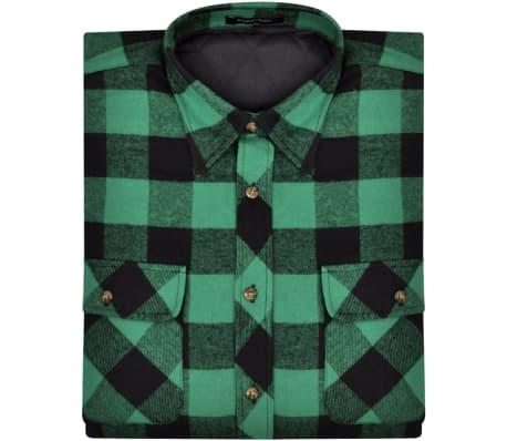 check out 9af15 d6b05 Camicia di flanella da uomo imbottita a quadri verde/nero taglia M