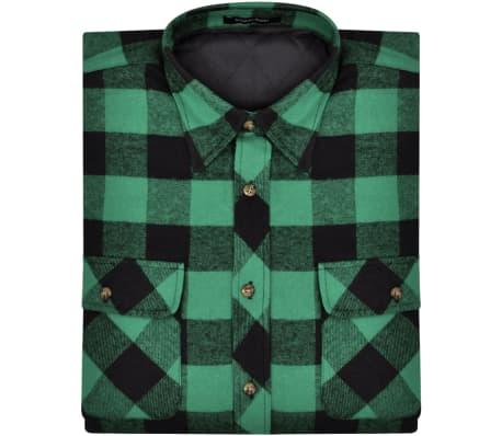 b04d4e25 Foret skovmandsskjorte i flonel til herrer, grøn-/sortternet, str. XXL[