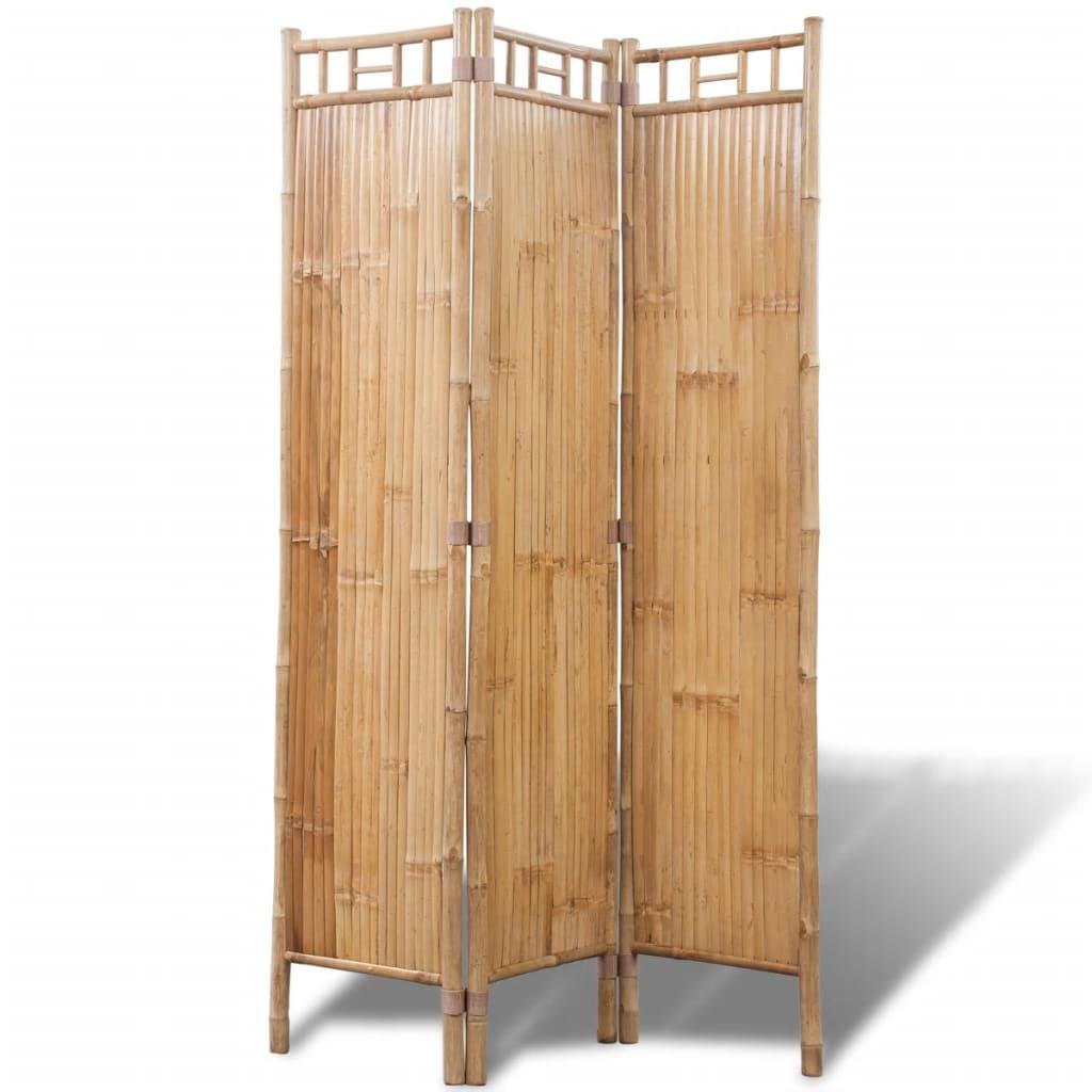 Trojdílný bambusový paraván