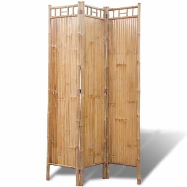 vidaXL 3-Panel Bamboo Room Divider[1/6]