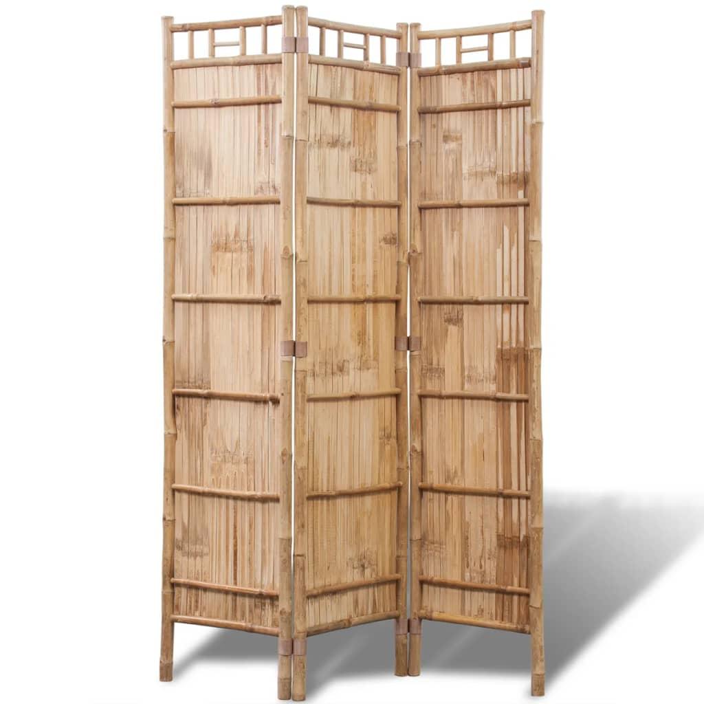 99242487 Bambus Raumteiler Paravent 3-teilig