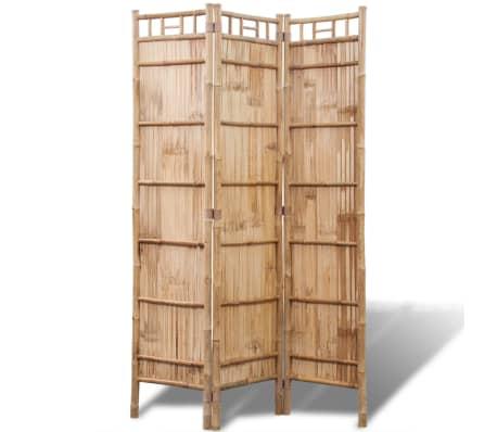 vidaXL 3-Panel Bamboo Room Divider[2/6]