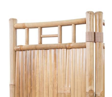 vidaXL 3-Panel Bamboo Room Divider[3/6]