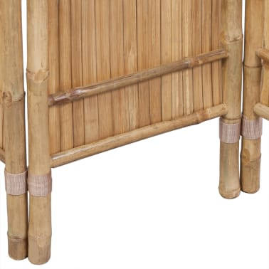 vidaXL 3-Panel Bamboo Room Divider[4/6]