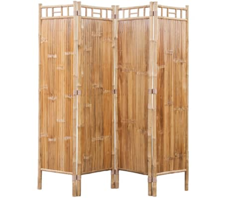 vidaXL 4-Panel Bamboo Room Divider[1/6]