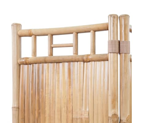 vidaXL 4-Panel Bamboo Room Divider[3/6]