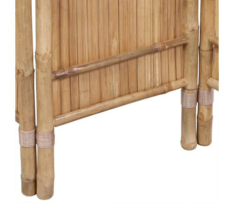 vidaXL 4-Panel Bamboo Room Divider[4/6]