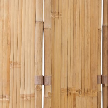 vidaXL 4-Panel Bamboo Room Divider[5/6]