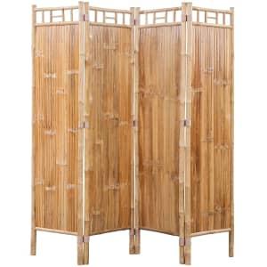 4 Panel Bamboo Room Divider Vidaxl Co Uk