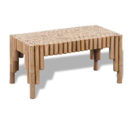vidaXL Kavos staliukas, bambukinis